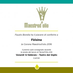Corona Maestrod'olio 2016_Fèlsina